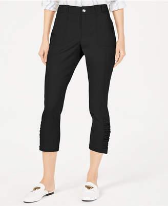 INC International Concepts I.n.c. Petite Ruched-Hem Cropped Pants