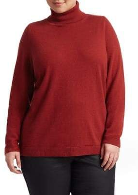 Lafayette 148 New York Lafayette 148 New York, Plus Size Lurex Cashmere Turtleneck Sweater