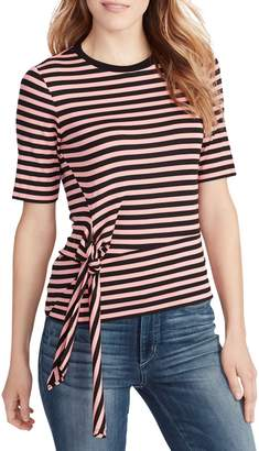 Ella Moss Khloe Tie-Front Striped Tee