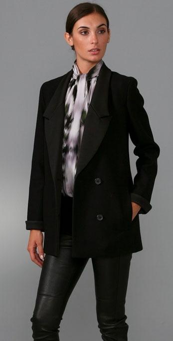 Derek Lam Tuxedo Jacket with Satin Lapel