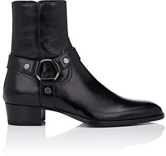 Saint Laurent Men's Wyatt Wrinkled Leather Boots