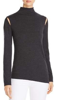 Elie Tahari Marcellia Slit Shoulder Sweater