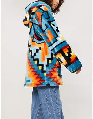 RAGYARD Aztec-print fleece hoody