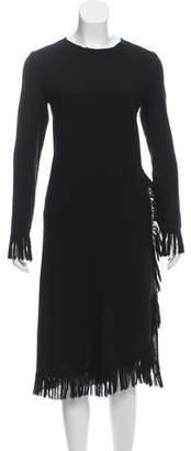 Leroy Veronique Fringe-Trimmed Wool Dress
