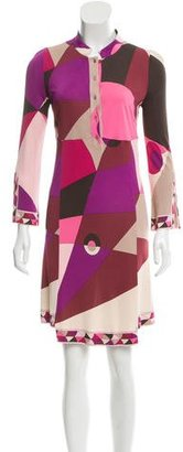 Emilio Pucci Printed Long Sleeve Dress $125 thestylecure.com