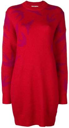 McQ swallow intarsia jumper dress