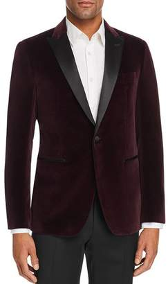 John Varvatos Bleeker Velvet Slim Fit Dinner Jacket with Satin Lapel