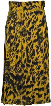 MSGM Skirt Pleates Tiger Print