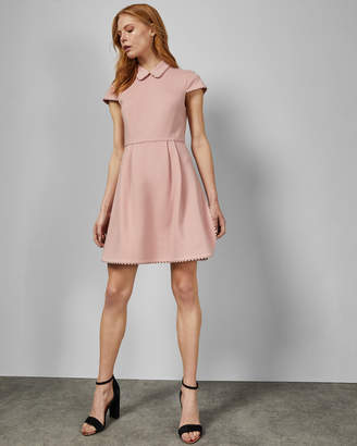 Ted Baker MORELTO Scallop detail collared dress