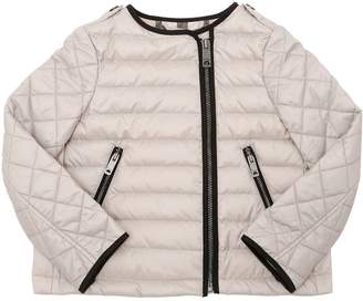 Burberry Quilted Nylon Down Biker Jacket