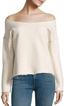 Mother Women's Off-The-Shoulder Sweatshirt