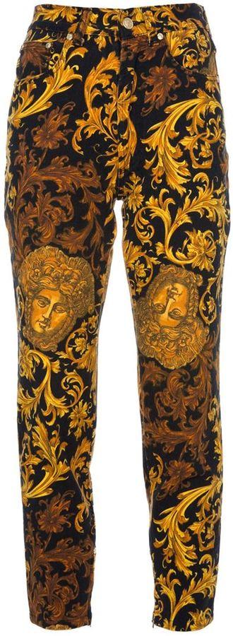 Versace Vintage printed jeans