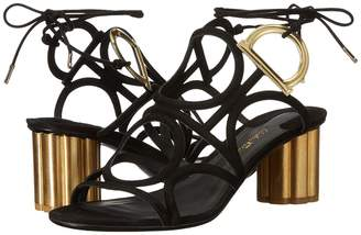 Salvatore Ferragamo Geometric Lace-Up Sandal High Heels