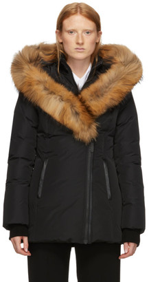 Mackage Black Down and Fur Classic Adali Parka