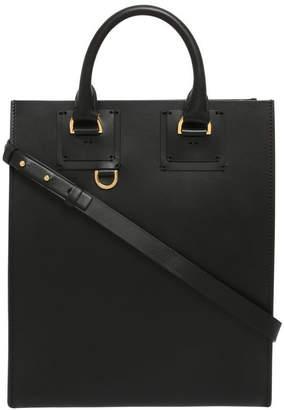 Sophie Hulme Mini Albion Burgundy Tote Bag
