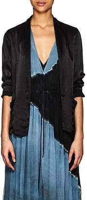 Raquel Allegra Women's Satin Shrunken Blazer