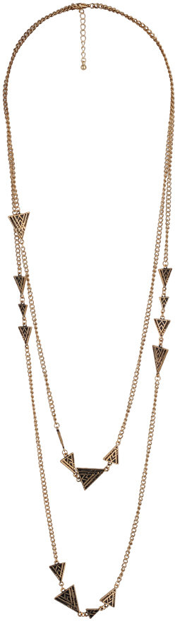 Forever 21 Etched Arrowhead Chain Necklace