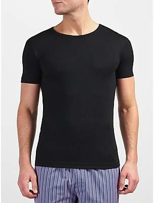 0c5494b00 John Lewis & Partners Short Sleeve Thermal T-Shirt, Black