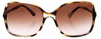 Chanel CC Oversize Tortoise Sunglasses