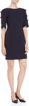 DKNY Navy Bow Sleeve Shift Dress