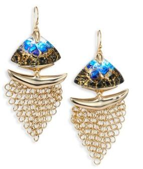 Alexis Bittar 10K Goldplated Brass Mesh Wire Earrings $275 thestylecure.com