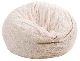 Christopher Knight Home Paige 3' Shag Faux Fur Bean Bag Beige