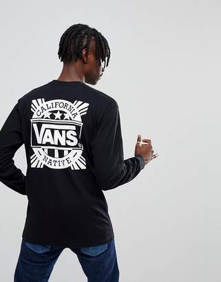 Vans Style 238 Long Sleeve Top In Black VA36TZBLK