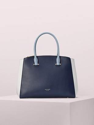 Kate Spade Sydney Large Double-zip Satchel, Blazer Blue