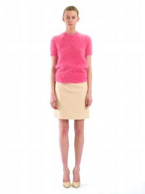 Michael Kors Satin Wool Broadcloth Slip Skirt