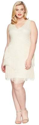 Unique Vintage Plus Size Beaded Renee Fringe Cocktail Dress Women's Dress