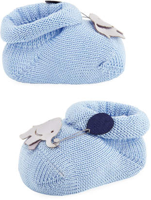 story. Loris Elephant Booties, Light Blue, Baby