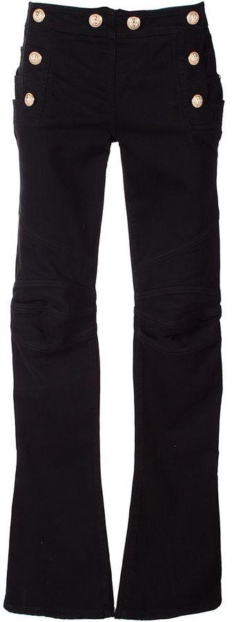 BalmainBalmain Mid-rise Kick-flare Jeans