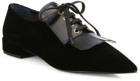 Prada Velvet Point-Toe Oxfords $750 thestylecure.com