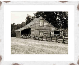 PTM Black & White Barn Framed Giclee Print