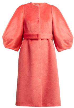 DELPOZO Single Breasted Wool Coat - Womens - Red