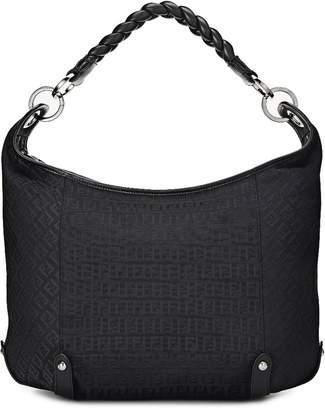 Fendi Black Zucchino Canvas Hobo Bag