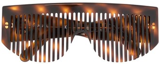 Chanel Pre-Owned comb sunglasses eye wear