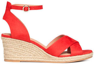 H&M Wedge-heel Sandals - Red