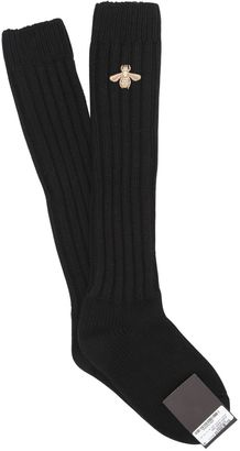 Bee Embroidered Wool Cashmere Socks $330 thestylecure.com
