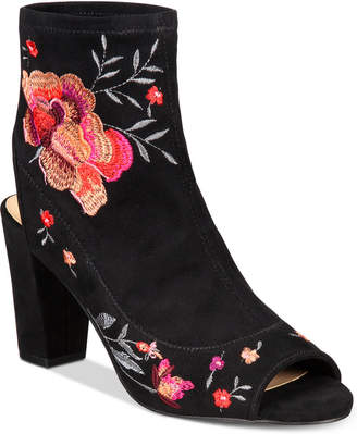 Anna Sui Loves Inc International Concepts Women's Kayden Embroidered Booties, Created for Macy's Women's Shoes $109.50 thestylecure.com
