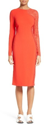 Women's Stella Mccartney Lace Inset Sheath Dress $2,165 thestylecure.com