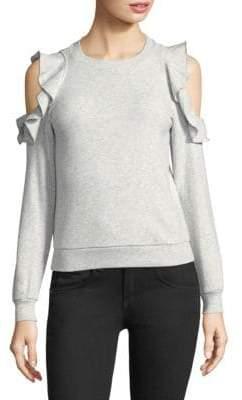 Rebecca Minkoff Gracie Ruffled Cutout Sweatshirt