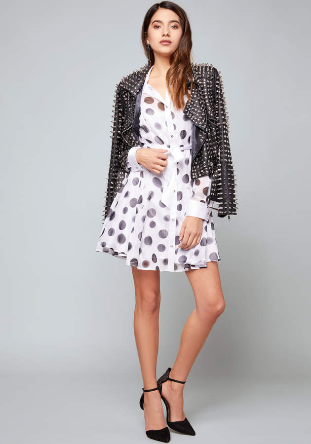 Print Sash Tie Shirtdress