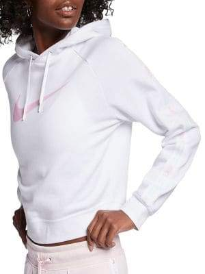 Nike Cotton Blend Fleece Cropped Hoodie