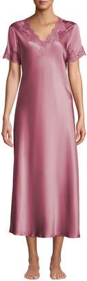 Krizia Vivis Lace-Trim Silk Nightgown