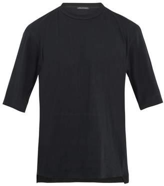 Longjourney Nash Thank You Print Cotton Jersey T Shirt - Mens - Black