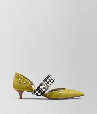 Bottega Veneta Chamomile Chenille D'orsay Kitten Heel