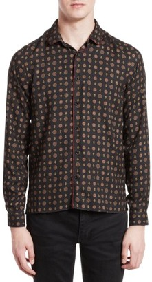 Men's The Kooples Piped Print Sport Shirt $245 thestylecure.com