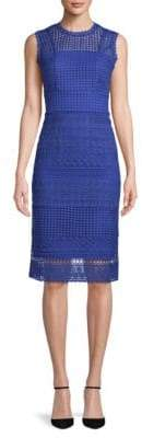 ABS by Allen Schwartz Embroidered Lace Sheath Dress