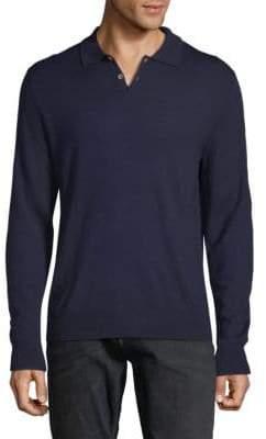 Saks Fifth Avenue Long-Sleeve Wool Polo